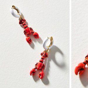 Anthropologie Lobster Drop Earrings